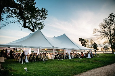 The pole tent as its name suggests is supported by poles and out-guyed stakes that tension the canopy over one or more center poles. & Tent Rentals in Richmond Virginia   Special Event Wedding and ...