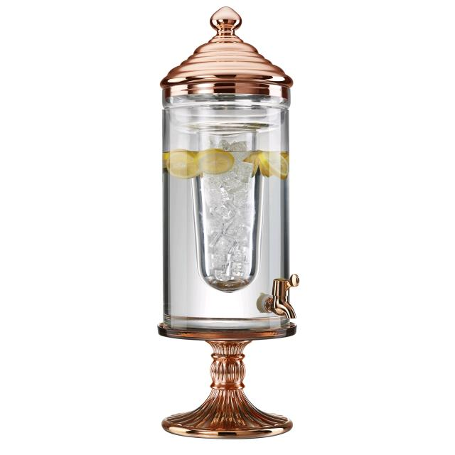 Where to find BEVERAGE DISPENSER, GLASS ROSE GOLD in Colonial Heights