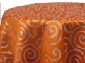 Rental store for ORANGE METALLIC SCROLL LINENS in Colonial Heights VA