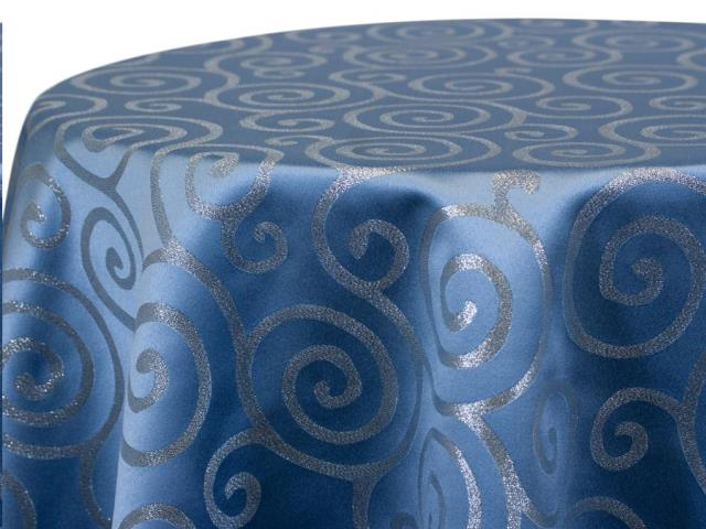 Where to find BLUE METALLIC SCROLL LINENS in Colonial Heights