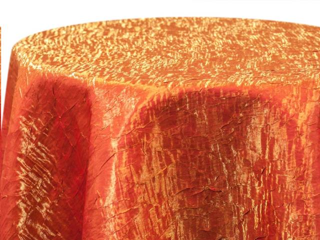 Where to find ORANGE IRIDESCENT CRUSH LINENS in Colonial Heights