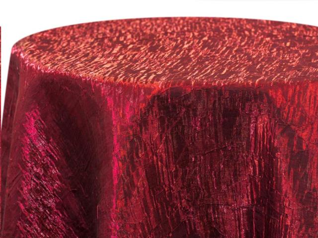 Where to find RED IRIDESCENT CRUSH LINENS in Colonial Heights