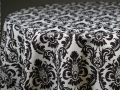 Rental store for BLACK   WHITE DAMASK LINENS in Colonial Heights VA