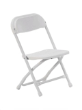 Rental store for CHAIR, METAL, WHITE, 13  SEAT CHILDRENS in Colonial Heights VA