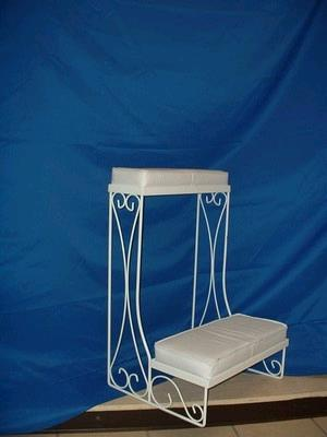 Kneeling Bench White On White Pair Rentals Colonial
