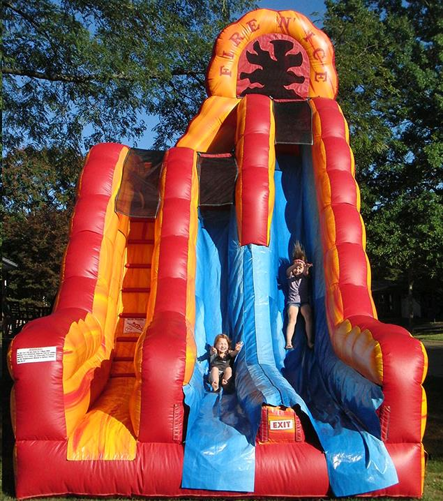 Inflatable Slide Where To Buy: MOONWALK FIRE ICE SLIDE Rentals Colonial Heights VA, Where